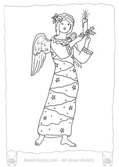 Cherub Template, Free Printable Angel Template for
