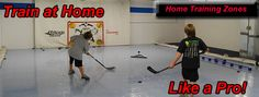 For the basement. Hockey training at home.