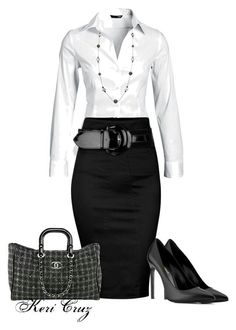 business mode damen A fashion look from December 2013 featuring long sleeve shirts, cotton skirts and yves saint laurent shoes. Browse and shop related looks. Office Attire, Office Outfits, Work Attire, Office Wear, Office Wardrobe, Work Outfits, Casual Office, Stylish Office, Office Style