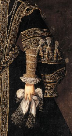 Arte, dettagli, veli, sensualità e ingenuità ! Art, details, veils, sensuality and naivety! Anna of Austria, Queen of Spain by Alonso Sanchez Coello Classic Paintings, Old Paintings, Historical Costume, Historical Clothing, Fashion History, Fashion Art, 16th Century Fashion, By Any Means Necessary, Classical Art