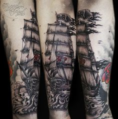 Sailor Ghost ship tattoo
