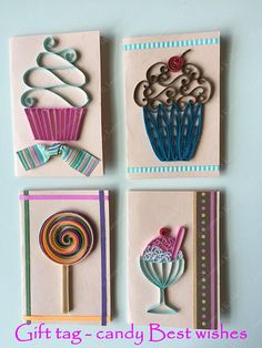 Items similar to Handmade Gift tags// set of quilled gift tags//birthday gift tags// Anniversary// Wedding// children//floral//xmas gift tags on Etsy Quilling Birthday Cards, Paper Quilling Cards, Quilling Letters, Paper Quilling Patterns, Paper Quilling Jewelry, Origami And Quilling, Quilled Paper Art, Quilling Paper Craft, Paper Crafts