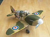 Another design by ParkflyerPlastics of the famous WW2 Spitfire. Notice the pilot figure is a dog; a British Bulldog. Talk about adding another cute factor that captures the attention of any kids nearby!