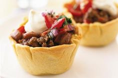 Tex Mex Pie Canape Recipe. Perfect for entertaining guests!