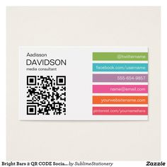 Orange qr code business card pinterest qr codes and business cards reheart Images