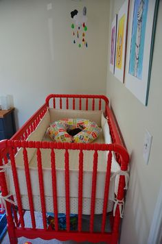 Red Jenny Lind Crib