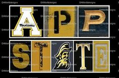 Appalachian State University Mountaineers Framed Alphabet Photo Art