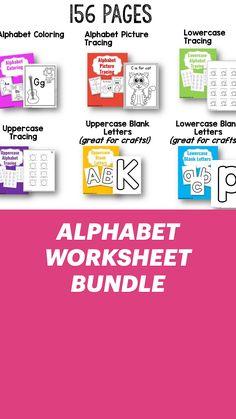 Alphabet Tracing, Alphabet Coloring, Alphabet Worksheets, Toddler Classroom, Preschool Classroom, Preschool Ideas, Teaching Strategies, Teaching Resources, Learning Games For Kids