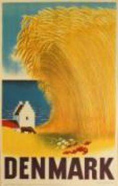 Denmark Danish Hay Scandinavia Vintage Travel Advertisement Art Poster in Art, Art from Dealers & Resellers, Posters Retro Poster, Vintage Travel Posters, Party Vintage, Denmark Travel, Kunst Poster, Vintage Canvas, Poster Prints, Art Prints, Vintage Advertisements