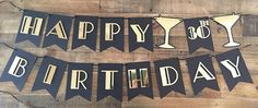 Your place to buy and sell all things handmade 30th Party, 30th Birthday Parties, Happy 30th Birthday, Happy Birthday Banners, Gatsby, Unique Jewelry, Handmade Gifts, Crafts, Cricut