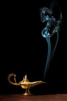spirit in magical lamp