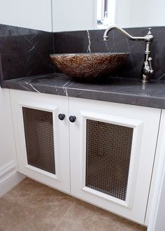 Check out this unique vanity concept, by Creative Cabinets. Bathroom Cabinetry, Bespoke Kitchens, Custom Cabinets, Beautiful Bathrooms, Double Vanity, Kitchen Design, Furniture Design, Concept, Unique