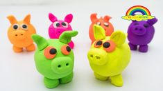 Learn Colors with Play Doh piggies clay molds Clay Molds, Learning Colors, Play Doh, Pikachu, Numbers, Toys, Character, Bricolage, Activity Toys