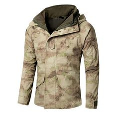Out door men Windbreaker Tactical Army Camouflage Coat Warm Fleece inside Military Jacket Waterproof Windproof Clothes Mens Hunting Clothes, Hunting Jackets, Military Jackets, Tactical Jacket, Tactical Gear, Camouflage Coat, Windbreaker Jacket, Winter Jackets, Types Of Jackets