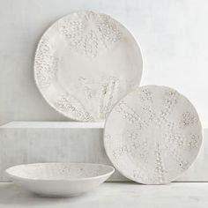 Bring the tide pool to your table with our unique dinnerware inspired by nature. The patterns of sea urchins are pressed into this durable melamine collection, which is beautifully beachy and perfect to pack for a picnic by the sea or party on the patio.