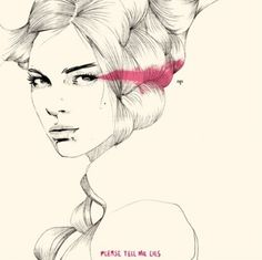 drawing, fashion illustration, illustration, pencil, pink - inspiring picture on Favim.com