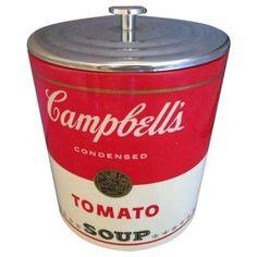 Mid-Century Campbell's Soup Ice Bucket on Chairish.com