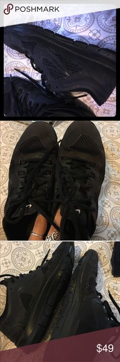 Women's Nike TR Fit 4 all black In great used condition! All black, show some slight wear but really in great shape! Nike Shoes