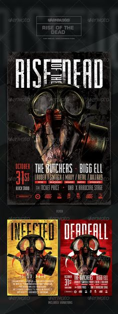 DJ club flyer template Club flyers, Flyer template and Dj - zombie flyer template