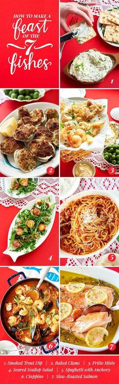 How To Cook A Real Feast Of The Seven Fishes - every single one of these dishes looks crazy delicious http://www.buzzfeed.com/alisonroman/feast-of-the-seven-fishes?utm_term=.gtNNGev2D