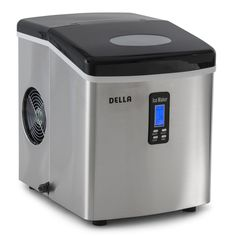 DELLA 048-GM-48292 Electric Ice Maker Machine Counter Top / Timer Clock Function / 3 Cube Sizes - 35lb/24hr ** This is an Amazon Affiliate link. See this great product.