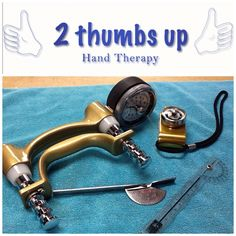 Tools we use for measuring range of motion, and strength at 2 Thumbs Up Hand therapy.