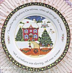 Portmeirion Studio CHRISTMAS STORY Dinner Plate Series 1 Susan Winget Free Ship #PortmeirionStudio