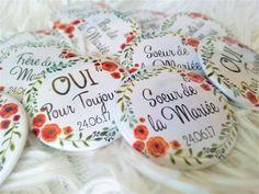 Badge Mariage - Fleurs