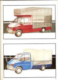 1985 Transit Consept Brochure (very rare) L Ford Transit Camper, Camper Conversion, Automotive Design, First Love, Proposals, Retro, Illustration, Sketches, Cars