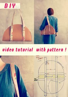 Vintage Sewing How to Stitch a Half-circle Handbag - A free video tutorial by SaltyMom to show sewers how to pattern, construct, and sew, a half-circle handbag with pockets while giving it plenty of space across the bottom. Diy Sewing Projects, Sewing Projects For Beginners, Sewing Hacks, Sewing Tutorials, Sewing Tips, Sewing Ideas, Circle Purse, Love Sewing, Learn Sewing