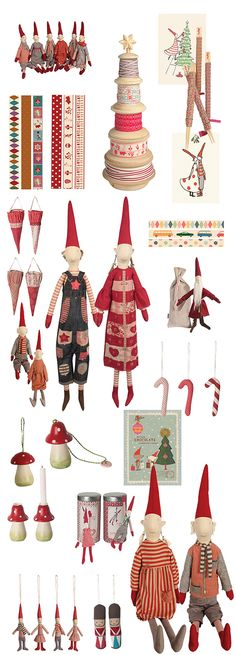christmas wrappings, ribbons, advents and decorations. Maileg Dk via sistersguild