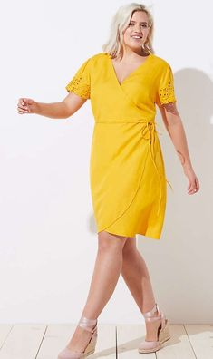 Plus Size Yellow Summer Dress #plussize