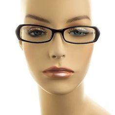 Thin-Frame-Sleek-Small-Rectangle-Retro-Women-Clear-Lens-Glasses-Black
