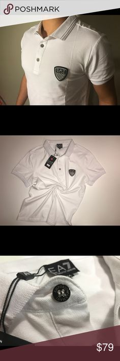 Emporio Armani Polo shirt ✔️Emporio Armani Polo Shirt  ✔️A brand-new with tags, unused, unworn  ✔️100 % cotton  ✔️M size Emporio Armani Shirts Tees - Short Sleeve