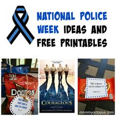 National Police Law Enforcement Appreciation Week Ideas and Free Printables