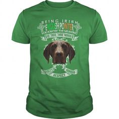 I Love English Pointer Saint Patricks Day Being Irish English Pointer Dog Shirts & Tees