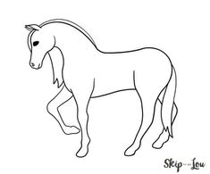 easy horse drawing black and white Easy Horse Drawing, Horse Drawing Tutorial, Back Drawing, Horse Drawings, Drawing Art, Animal Drawings, Cute Animals Images, Easy Animals, Reindeer Drawing