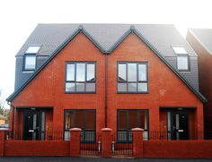 St Andrews Way, Leyland, Lancashire.  The scheme compromises a single terrace featuring nine units for social rent and a pair of semi-detached houses for shared ownership with each house meeting Lifetime Homes standards. Croft Goode Architects