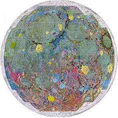 U.S. Geologic Survey topographical map of the moon