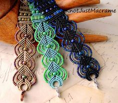 Knot Just Macrame by Sherri Stokey: A Learning Experience: Teaching Micro Macrame Macrame Bracelet Patterns, Macrame Earrings, Crochet Bracelet, Macrame Patterns, Macrame Jewelry, Macrame Bracelets, Beading Patterns, Loom Bracelets, Friendship Bracelets