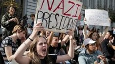 San Francisco teachers' union suggests lesson plan calling Trump racist, sexist - CBS News Trump Protest, Protest Signs, Political Events, Political News, Mortgage Humor, Mortgage Tips, State Of Oregon, Big Government, Trump Wins