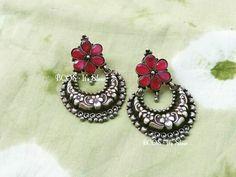 Fancy Jewellery, Silver Jewellery Indian, Indian Earrings, Trendy Jewelry, Silver Jewelry, Antique Jewelry, Beaded Jewelry, Fashion Earrings, Fashion Jewelry