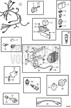 volvo penta ms2 wiring diagram volvo penta alternator wiring diagram | yate | pinterest ...
