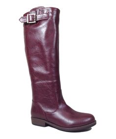 Oxblood Buckle Montage Boot by Bamboo #zulily #zulilyfinds