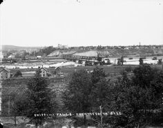 Chippewa Falls from the South Side, which was called Frenchtown at the time. You can see the railroad bridge crossing the river which is still standing today.  Exact date is unknown. Between 1889-1916 according to collection. Courtesy of the Wisconsin Historical Society.