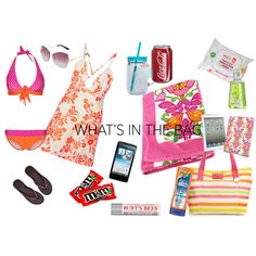 """""""What's in My Beach Bag"""" by rootsandrenovations on Polyvore"""