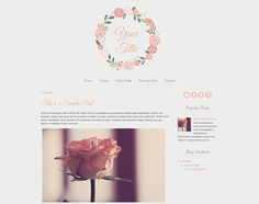 Premade Blogger Template Timeless by BeautifulDawnDesigns on Etsy, $25.00 Blog Layout, Blogger Templates, Web Design, Place Card Holders, Branding, Words, Unique Jewelry, Handmade Gifts, Blogging