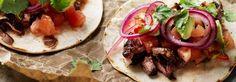 Hemkop.se   Kryddbakad högrev med picklad rödlök Tacos, Mexican, Ethnic Recipes, Food, Essen, Meals, Yemek, Mexicans, Eten