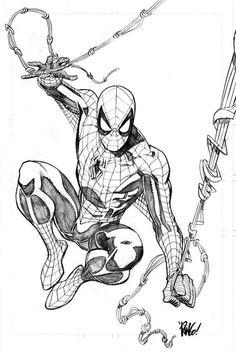 Image detail for -Clandestine Critic: Comic Book Artist: Mike Wieringo Spiderman Tattoo, Spiderman Kunst, Spiderman Drawing, Comic Book Artists, Comic Book Characters, Comic Books Art, Comic Art, Marvel Art, Marvel Comics