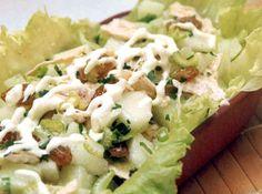 Salada Tropical de Frango Ketogenic Recipes, Diet Recipes, Vegan Recipes, Cooking Recipes, I Love Food, Good Food, Carne, Supreme, Food And Drink